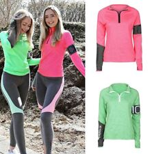 Women Gym Sport Shirt Fitness Running Tops Long Sleeve Zipper Yoga Jacket Coat