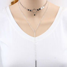 Sequins Chain Tassel Pendant Double Layer Girl Choker Necklace Jewelry Exquisite