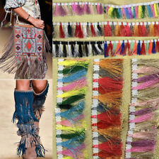1 yd Colour Fringe Trim Tassel Clothes & Accessories Dress DIY Sewing Craft NEW
