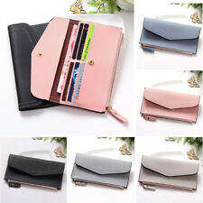 Fashion Lady Women Leather Clutch Wallet Long Card Holder Case Purse Zip Handbag