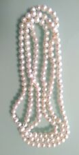White Freshwater Pearl Strand Necklace, Brand new.