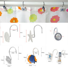 Set of 12,Decorative Marine Style Resin Window Shower Curtain Hooks Hanger Rings