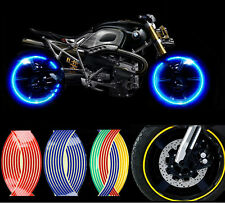 """10"""" Strips Wheel Stickers Decals For  Reflective Rim Tape  Bike Motorcycle Car"""