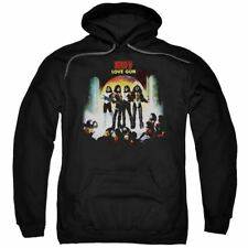 KISS ROCK Heavy METAL Band MUSIC NWT FLEECE HOODIE IN Black SIZES SM - 2XL