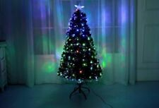 New Green Led/Fibre Optic Christmas Xmas Tree Lights Decoration PreLit 4-5-6-7FT