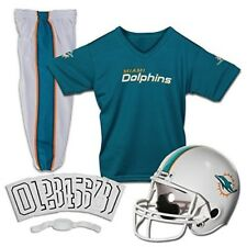 Miami Dolphins Youth Uniform Ages 7-9 Kids Helmet Pants Jersey Team Soccer NFL