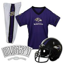 Baltimore Ravens Youth Uniform Ages 7-9 Kids Helmet Jersey Pants Soccer Game NFL