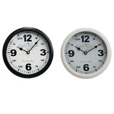 """Round 22cm """"Clement Audierne""""Black & White Metal Wall Clock"""