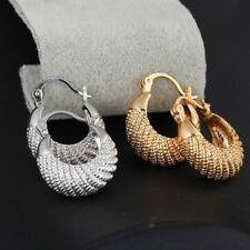 Golden/Silver Plated Large Hoop Round Circle Earrings Women Jewelry Gift Cheap