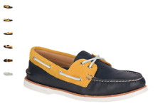 NEW Mens SPERRY TOP-SIDER Navy Gold GOLD CUP A/O AUTHENTIC ORIGINAL Boat Shoes
