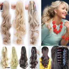 Jaw Claw Clip On In Ponytail Pony Tail Hair Extensions Extension as Human Remy A