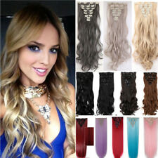 New Cosplay Hair Extensions 8Pcs 18Clips Clip In On Hair Extensions Anystyle PI7