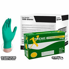 Xtreme Green Nitrile Industrial Latex Free Disposable Gloves (Case of 1000)