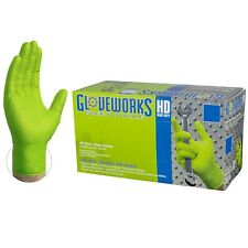 GLOVEWORKS Green Nitrile Industrial Latex Free Disposable Gloves (Box of 100)