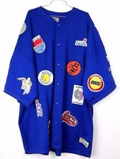 NBA Royal Throwback Patches Majestic Hardwood Classics Basketball Warm Up Jersey