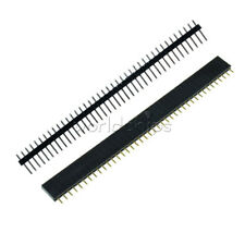 10PCS 40pin 2.54mm Header Socket Single Row Strip Male&Female PCB Connector Cool