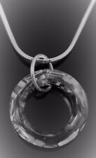 Pendant, Necklace Made w/ 20mm Swarovski Crystal Element. Sterling Silver Parts