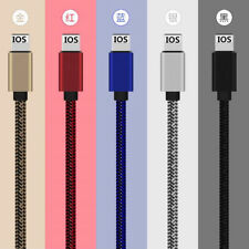 3/6/10FT Data Sync 2A Quick Charging USB Cable Cord For iPhone 7 Plus 6 6S 5 SE
