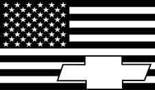 Chevy Bowtie American Flag Decal Car or Truck