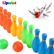 12pcs/set New Colorful Plastic Bowling Set Mini Leisure Outdoor Sport Toys