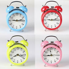 Classic Simple Alarm Clock Metal Shell Two-Way Bell Alarm Clock Home Decoration