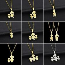 Unique Stainless Steel Single Mother Kids Pendant Chain Necklace Jewelry Dreamed