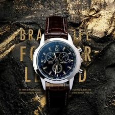 Man's Business Quartz Watch Formal Leather Strap Wrist Watch Luxury