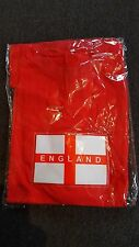 England light up flashing t-shirt red adult football Rugby 6 nations 100% cotton
