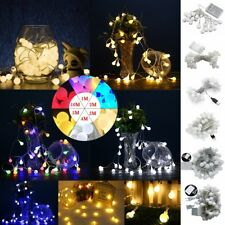5/10M 50/100LEDs Christmas Party Home Room LED Bulb Ball String Fairy Light Lamp