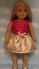 """Christmas Dress handmade to fit 18"""" American Girl Doll 18 inch Doll Clothes 34ab"""