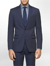 calvin klein mens body slim fit navy pinstripe suit jacket