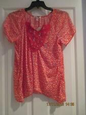 Petite Embellished Asymetrical Hem Top NEW BY Inspire Size PXL