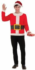 Ugly Christmas Sweater Party Santa Claus Suit Shirt Costume Adult Unisex