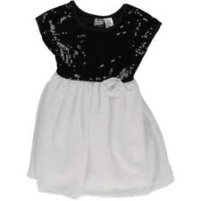POGO CLUB $49 Girls BLACK WHITE EMBELLISHED Special Occasion DRESS S 4 NWT