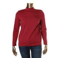 Tommy Hilfiger 3313 Womens Mock Neck Long Sleeves Striped Pullover Top BHFO