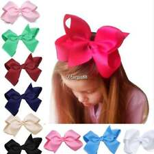 New Alligator Clips Girls Large Bow Ribbon Kids Accessories Hair Clip UTAR 01