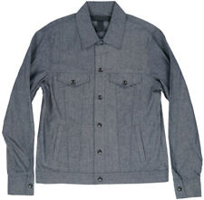 Black Scale Chambray Denim Jean Jacket Navy BLVCK SCVLE Mens