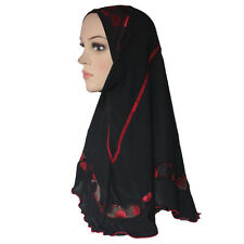 Muslim Hijab Islamic Scarf Woman Amira Cap with Beautiful Lace Polyester