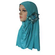 Muslim Hijab Islamic Scarf Woman Amira Cap Beautiful Drill on Head with Beads