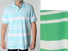 Chaps Mens Polo Shirt Short Sleeve Seashore Striped Cotton size M L XL NEW