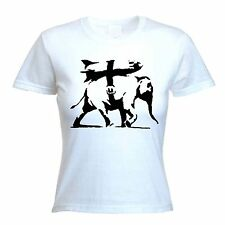 BANKSY HEAVY WEAPONRY WOMENS T-SHIRT - Choice Of Colours - Sizes S to XL