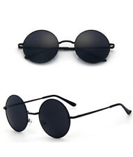 Polarized Vintage Retro Men Women Round Metal Frame Sunglasses Driving Glasses