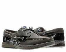 Sperry Top Sider Bluefish 2-Eye Grey/Leopard Sparkle Women's Boat Shoes 9353624