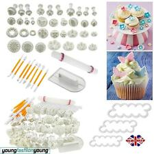 Cake Cookie Decorating Fondant Sugarcraft Icing Plunger Cutters Tools Mold Mould