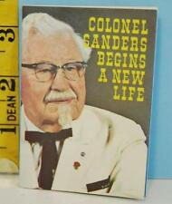 1968 Religious Revival Colonel Sanders Begins A New Life Booklet KFC