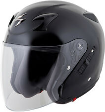 SCORPION  EXO-CT220 OPEN-FACE SOLID HELMET BLACK [Different Sizes]