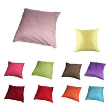 Suede Solid color Pillow cover 45cm*45cm rose red H9I7