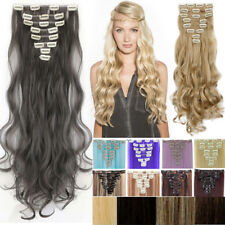 8PCS Clip in Hair Extensions 100% Real as Human Hair Extension Blonde Brown AP9