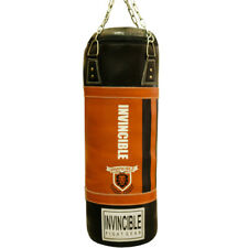 Amber Heavy Boxing Punching Bag Leather Heavybag Unfilled Training MMA