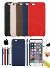 Apple iPhone 6S - Leather Hard Back Case Cover, Stylus Pen & GLASS Protector